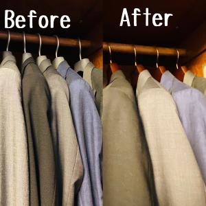 洋服にサイズがあるように、ハンガーも洋服に合ったサイズ選びが必要でした。[PR]
