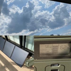 予約していた防災グッズが到着!!ソーラーパネル充電やってみました♪