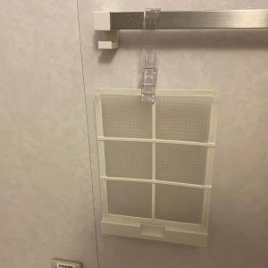 浴室乾燥機のフィルター掃除と換気口のフィルター交換♪