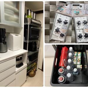 やっと使えた100均のミニキャスターで防災備蓄の食材置き場を確保!