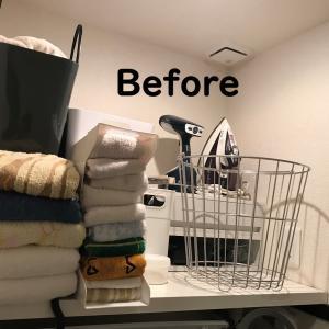 【引越し1年を前に、モノと収納の見直し~洗濯機周り~】