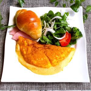 松本ファームの烏骨鶏たまごで、モンサンミッシェル風オムレツ♪