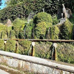 噴水で有名なエステ荘とレストランでの食べ方