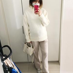 【臨月 36w 】GU ローゲージタートルネックセーター
