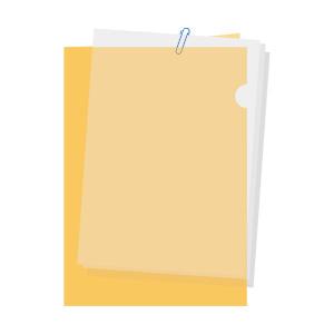 書類の区分けはクリアファイルでは不十分、封筒をつかう