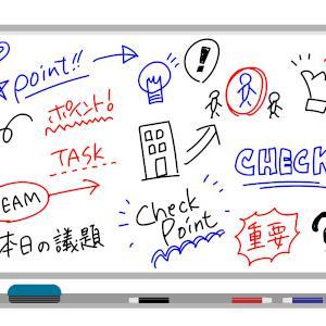 ホワイトボードや行動予定表、壁面にもむき出しの情報がある