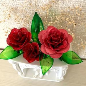 オンラインレッスン薔薇で彩るアレンジメント
