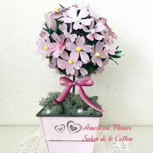 ディップフラワーオンラインレッスン『桜のトピアリー』