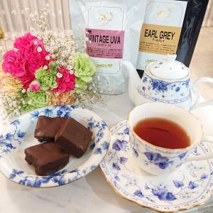 気になるチョコブラウニーに合わせて紅茶をブレンドしました