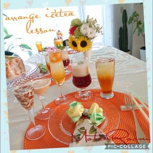 日曜日もアレンジアイスティーのお茶会レッスン開催しましたぁ(^-^)