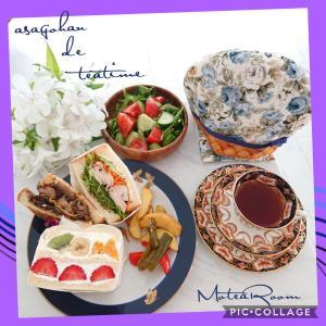 【ティータイム】サンドイッチに合わせて紅茶をブレンドしました(^_^)