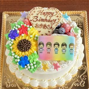 嵐とメンバーカラーとメンバーカラーのケーキ☆
