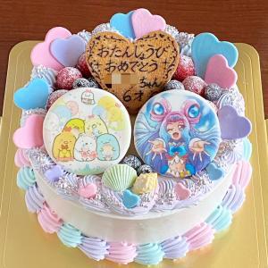 どどんと豪華に☆キュアラメールとすみっコぐらしのコラボケーキ