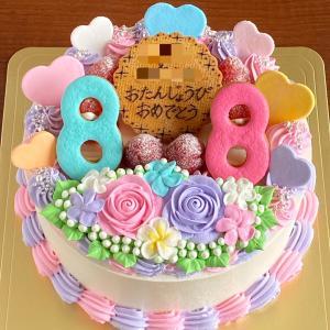 双子ちゃんのための…カラフル&ゴージャスなケーキ♡