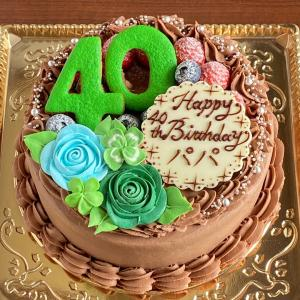 ボタニカルな雰囲気の生チョコショートケーキ♪