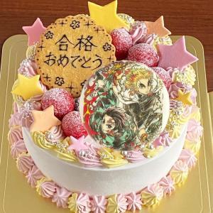 天然色素でカラフル目指す!煉獄さん&炭治郎のケーキ☆
