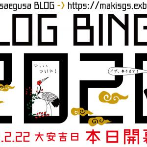 【BLOG BINGO 2020】DAY1:イザ・・・・・開幕!!!