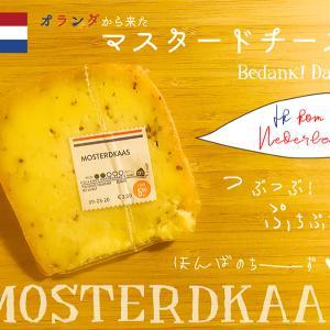 """オランダのおみやげ*""""MOSTERDKAAS"""" つぶつぶのプチプチが楽しい「マスタードチーズ」!"""
