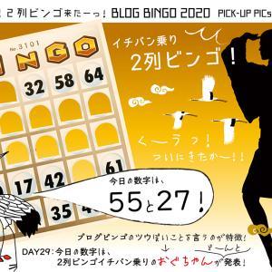 【BLOG BINGO 2020】PICK-UP PICs : ウギャー!「2列ビンゴ」のシャウトついに来たーーーッ!
