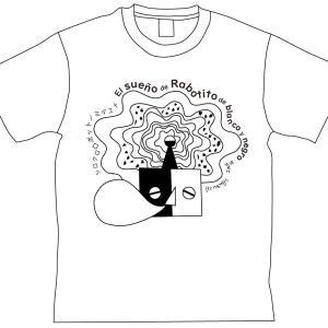【受注開始】『白黒ロボットくん』Tシャツ・design_A「寝てる」と design_B「起きてる」!