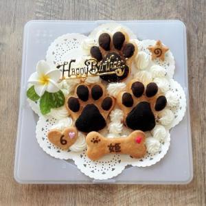 犬用ケーキ  マフィンを使って。。。