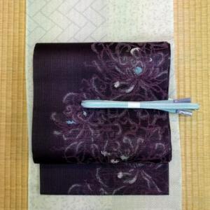 絽小紋に紗袋帯