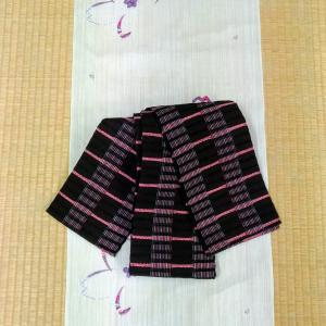 麻の桜柄着尺