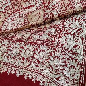 カシミール刺繍の大判ストール