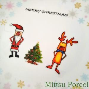 クリスマス に使う大皿♪ポーセラーツ