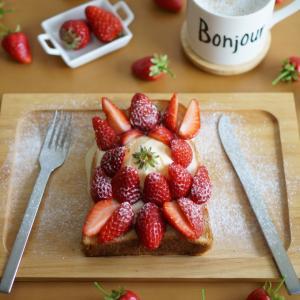 Strawberry Ice Cream Toast ❤️