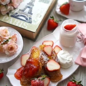Strawberry season ❤️ Strawberry French Toast
