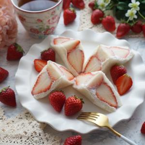 Strawberry Season ❤️ Strawberry Sandwich