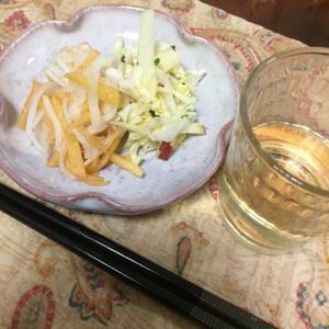 白菜とりんごのサラダ、柿なます