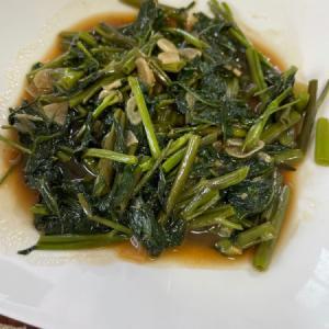 サンバルカンクン(空芯菜のサンバルソース)とガパオライス