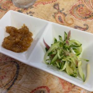 きゅうり、ミョウガ、生姜の酢の物