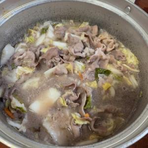 白菜漬けベースで、羊シャブシャブ。