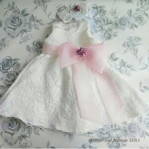 ☆ウエディングドレスを子供ドレスへリメイク完了です
