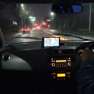 【車載動画】台風の中、仕事先から無事に帰宅できました