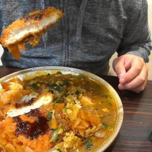 ココイチのトリチキ三昧カレーとイカサラダ