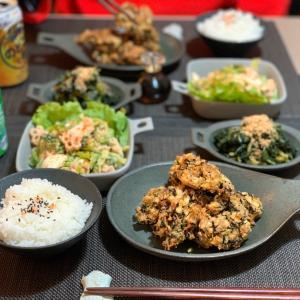 豆腐と山芋とひじきのふわふわ揚げ落とし