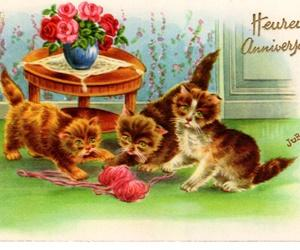猫のアンティーク・ポストカード