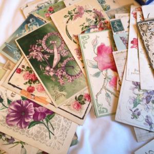 お花のポストカードがたくさん