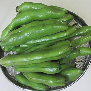 晩ご飯の一品!頂きものの空豆でてんぷらと蒸し焼き!