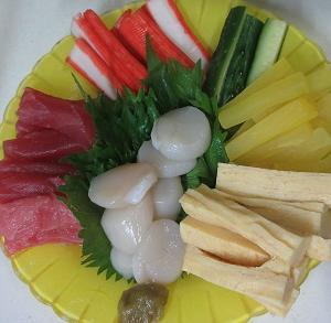 晩御飯の一品!手巻き寿司!