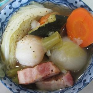 晩ご飯の一品!レンタル農園の収穫物で野菜スープ!