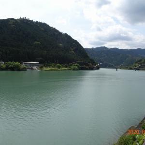 国道152号線北上 秋葉神社 龍山の不動の滝 水窪ダムなど静岡県