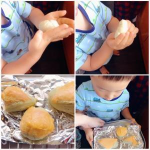 息子もお手伝いできる簡単パン作り