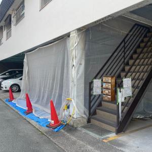 GORIハイツの一階塗装工事