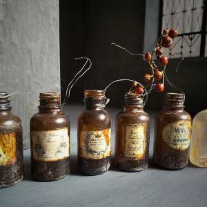 アンティーク風加工の瓶