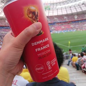 【現地観戦】ロシアW杯  フランス vs デンマーク @ ルジニキ・スタジアム、モスクワ